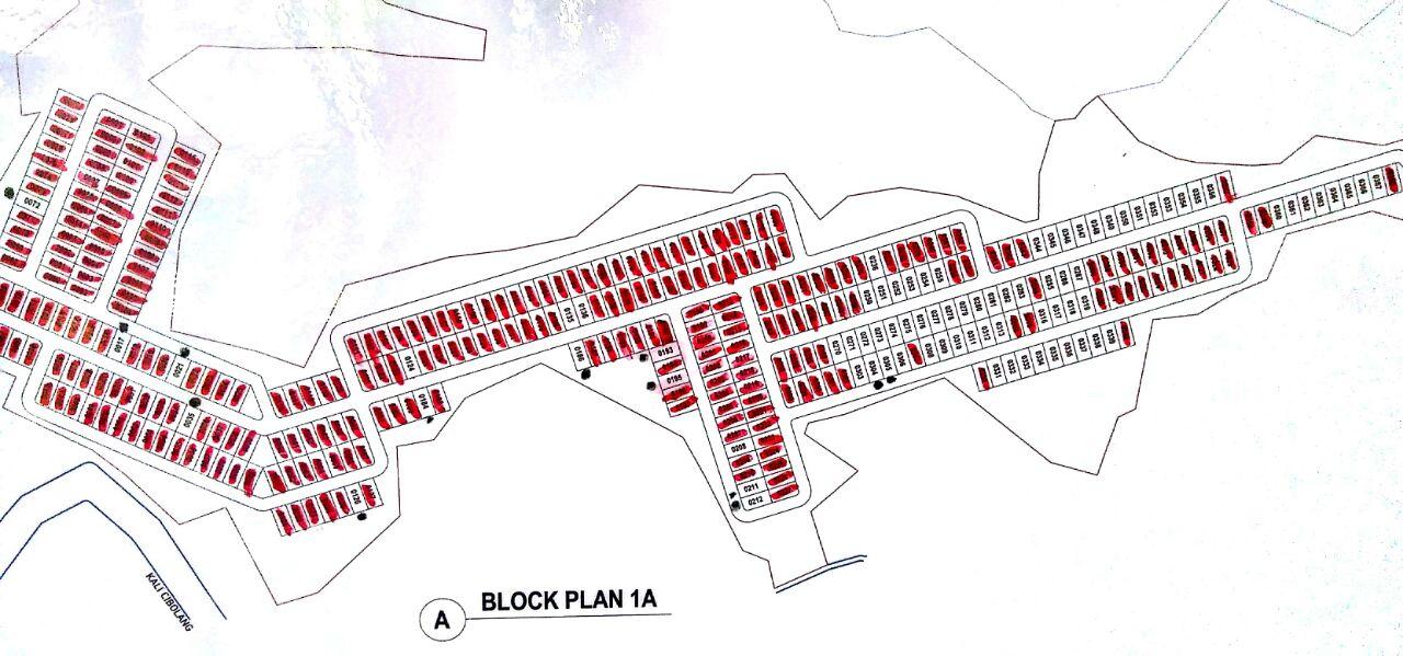 Site-plan kampung bogor