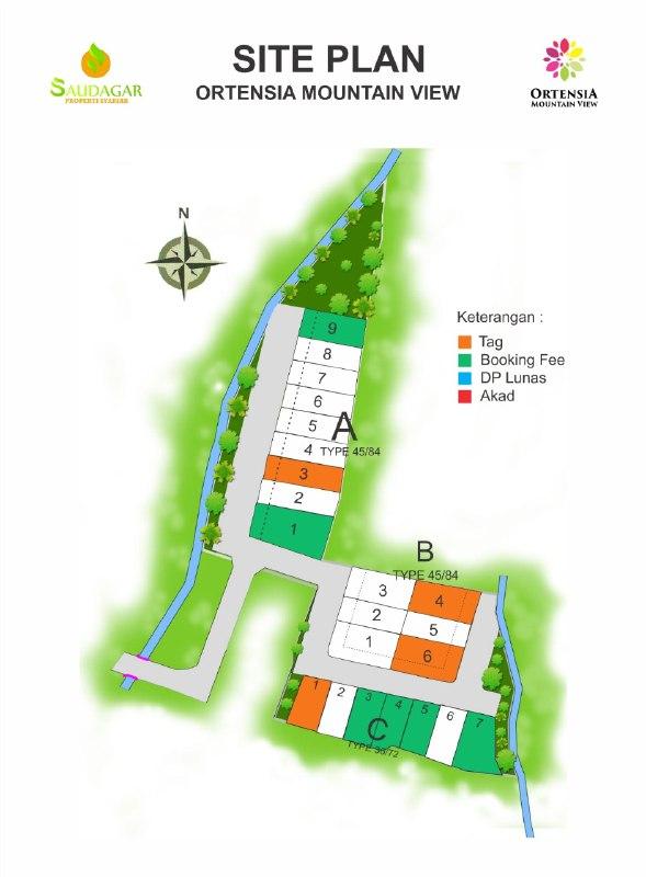 site plan rumah syariah bogor
